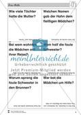 Frau Holle: Text (leicht) und Aufgaben Preview 4
