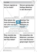 Frau Holle: Text (leicht) und Aufgaben Preview 5