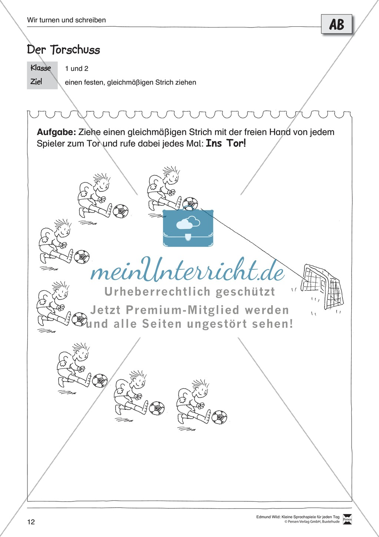 """Sprachspiele - Wortspiele: """"Bewegung - Turnen - Schreiben"""" - Arbeitsblätter + Übungen Preview 7"""