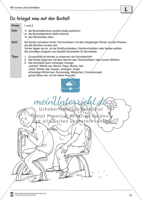 """Sprachspiele - Wortspiele: """"Bewegung - Turnen - Schreiben"""" - Arbeitsblätter + Übungen Preview 8"""