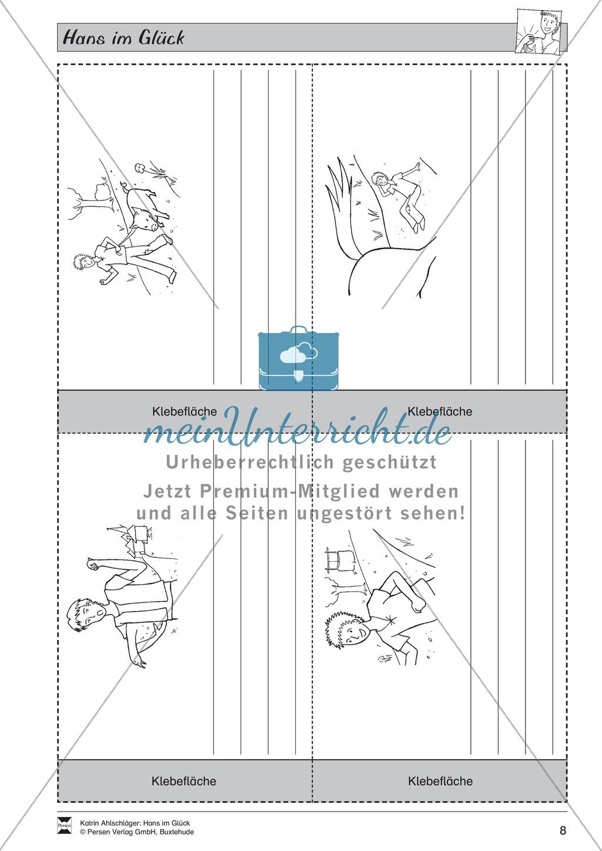 Hans im Glück: Text (mittel) und Aufgaben Preview 3