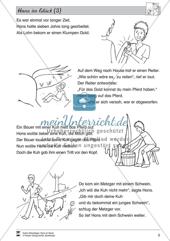 Hans im Glück: Text (schwer) Preview 1