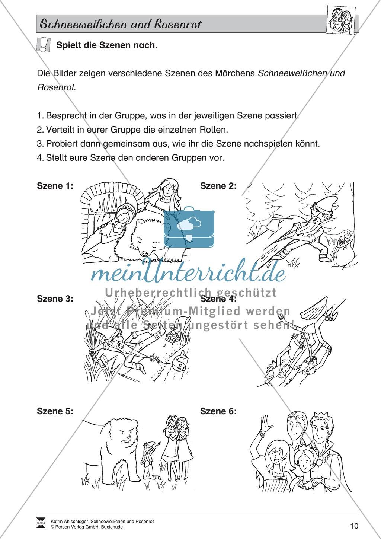 Schneeweißchen und Rosenrot: Lesetext und Arbeitsblätter Preview 8