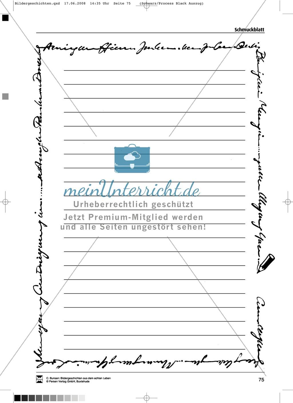 Materialsammlung Teenager-Schwangerschaft: Bilder, Arbeitsblätter und Schmuckblatt Preview 11