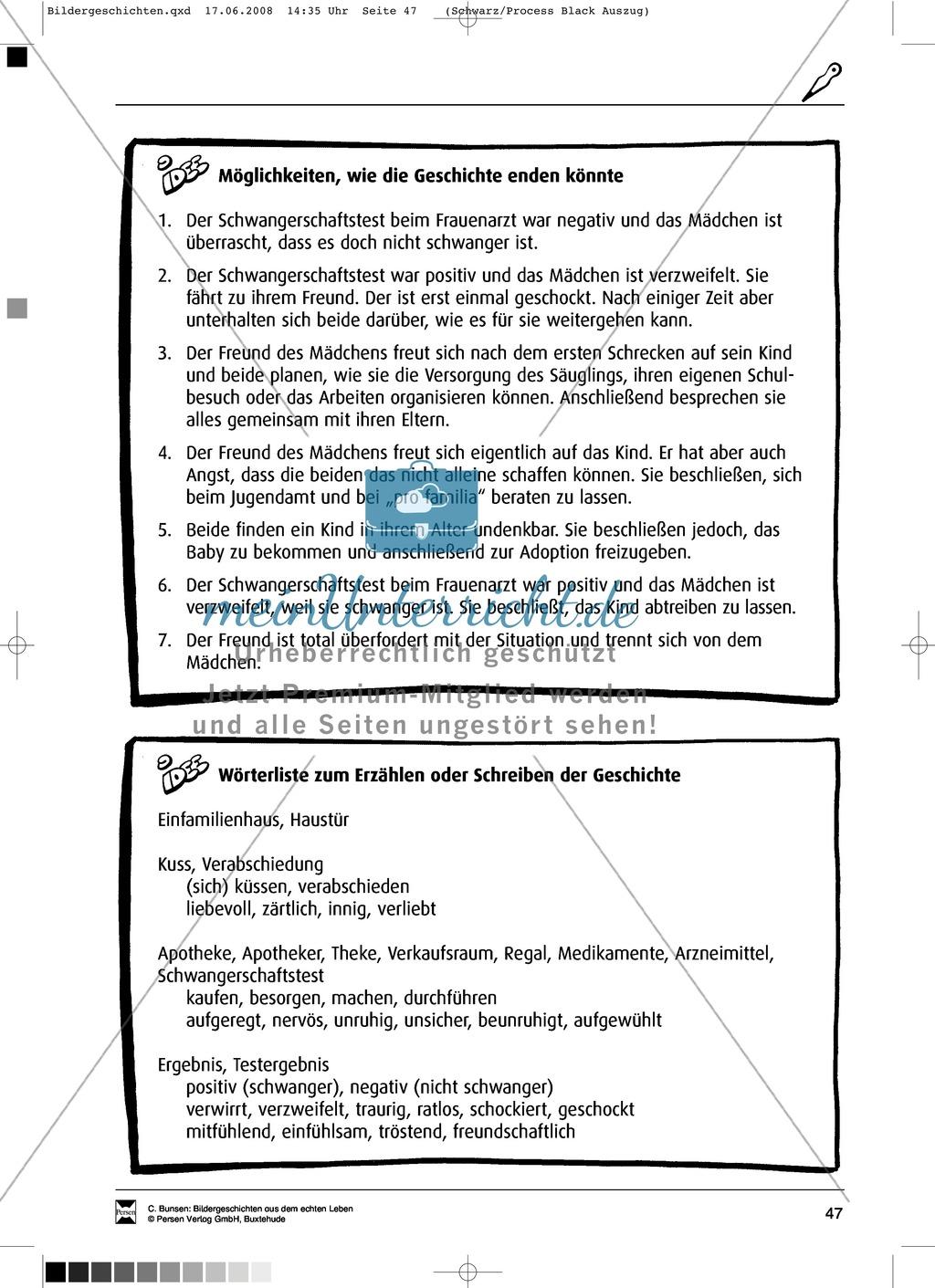 Materialsammlung Teenager-Schwangerschaft: Bilder, Arbeitsblätter und Schmuckblatt Preview 1