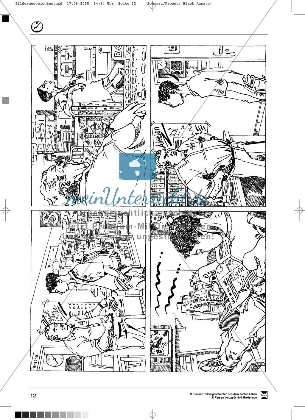 Materialsammlung Ärger mit dem Chef: Bilder, Arbeitsblätter und Schmuckblatt Preview 0