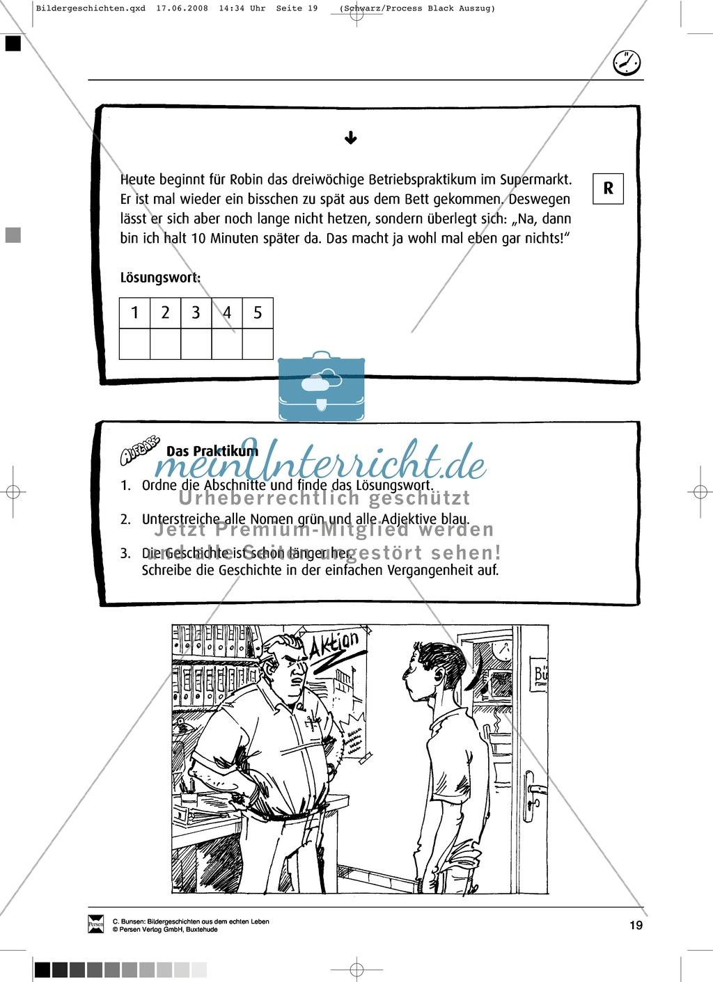 Materialsammlung Ärger mit dem Chef: Bilder, Arbeitsblätter und Schmuckblatt Preview 7