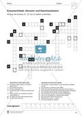 Geruchssinn und Geschmackssinn: Arbeitsblatt Preview 3