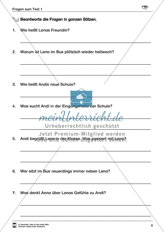 Leseförderung: Liebe auf den ersten Blick: Lesetext 1 mit Aufgaben Preview 4