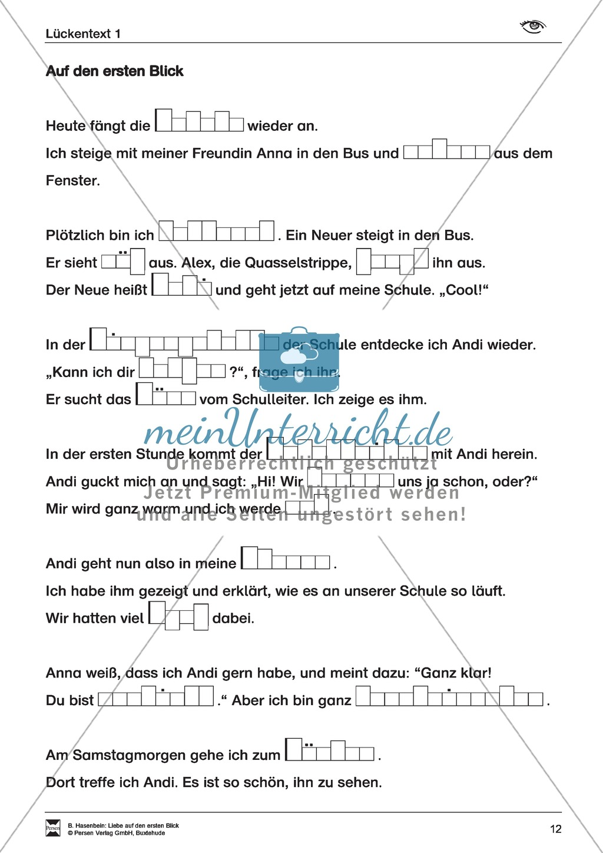 Leseförderung: Liebe auf den ersten Blick: Lesetext 1 mit Aufgaben Preview 6