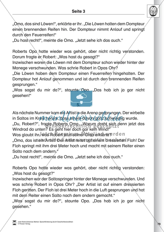 Sprachförderung: Der Zirkusbesuch: Lesetext, Hinweise zum Erzählen ...