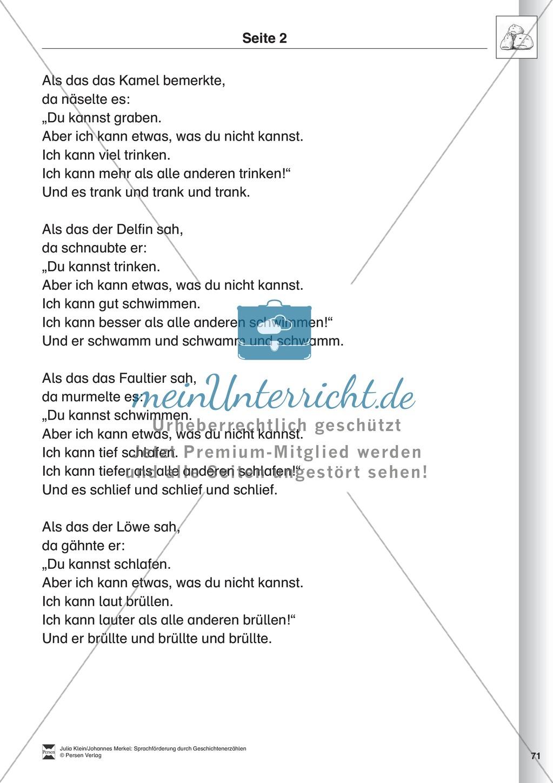 Sprachförderung: Die Stunde der Angeberei: Lesetext, Hinweise zum Erzählen und Schreiben und Arbeitsblätter Preview 1