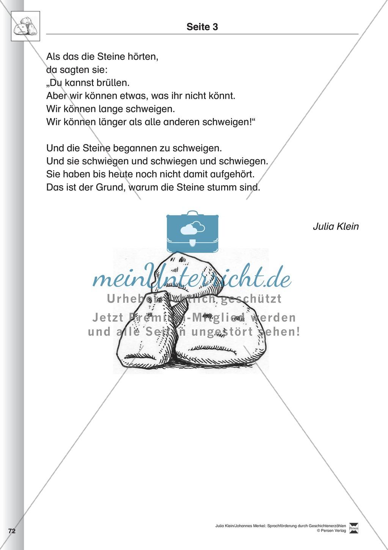 Sprachförderung: Die Stunde der Angeberei: Lesetext, Hinweise zum Erzählen und Schreiben und Arbeitsblätter Preview 2