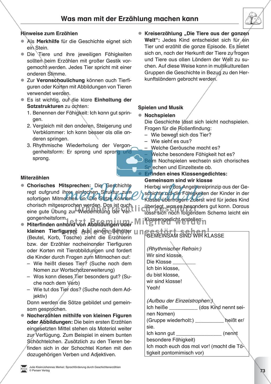 Sprachförderung: Die Stunde der Angeberei: Lesetext, Hinweise zum Erzählen und Schreiben und Arbeitsblätter Preview 3