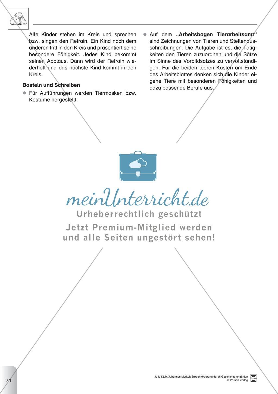Sprachförderung: Die Stunde der Angeberei: Lesetext, Hinweise zum Erzählen und Schreiben und Arbeitsblätter Preview 4