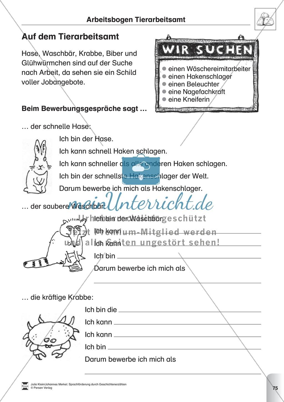 Sprachförderung: Die Stunde der Angeberei: Lesetext, Hinweise zum Erzählen und Schreiben und Arbeitsblätter Preview 5
