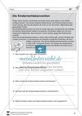 Kinderrechtskonvention: Text und Aufgaben Preview 1