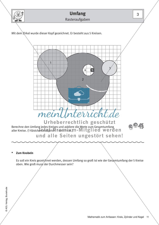 Umfang eines Kreises: Übungen + Lösungen - meinUnterricht