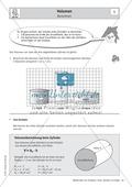 Mathematik, Raum & Form, Körperberechnung, Zylinder, Volumen