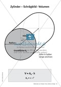 Mathematik, Raum & Form, Geometrie, Körperberechnung, Zylinder, Volumen