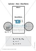 Mathematik, Geometrie, Raum & Form, Körperberechnung, Zylinder, Netzbild, oberfläche