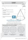 Mathematik, Geometrie, Raum & Form, Körperberechnung, Kegel, schrägbild