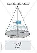Mathematik, Geometrie, Raum & Form, Körperberechnung, Kegel, Volumen