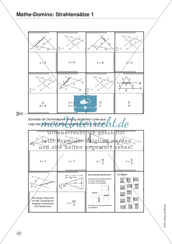 Mathe-Domino: Geometrie: Dominokarten - meinUnterricht