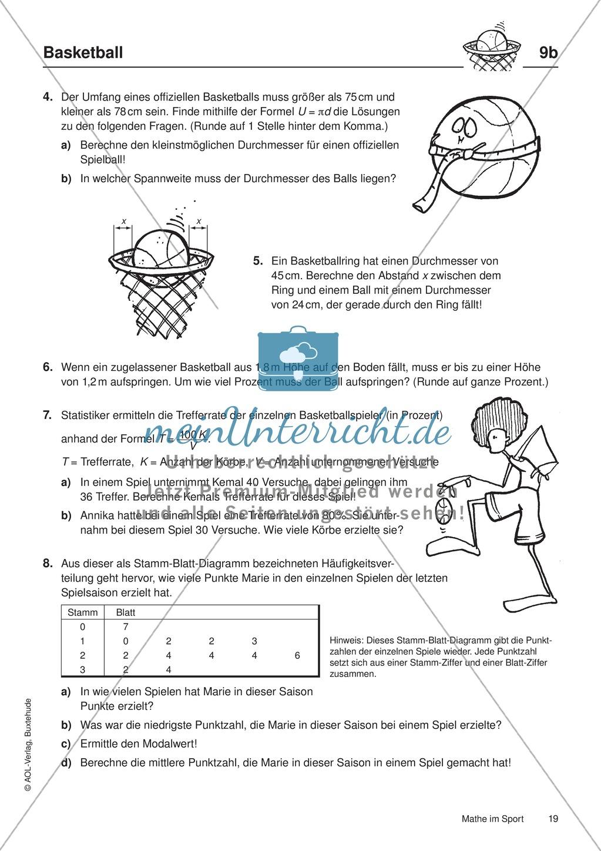 basketball geometrische formen ma st be fl chen statistik bungen l sungen. Black Bedroom Furniture Sets. Home Design Ideas