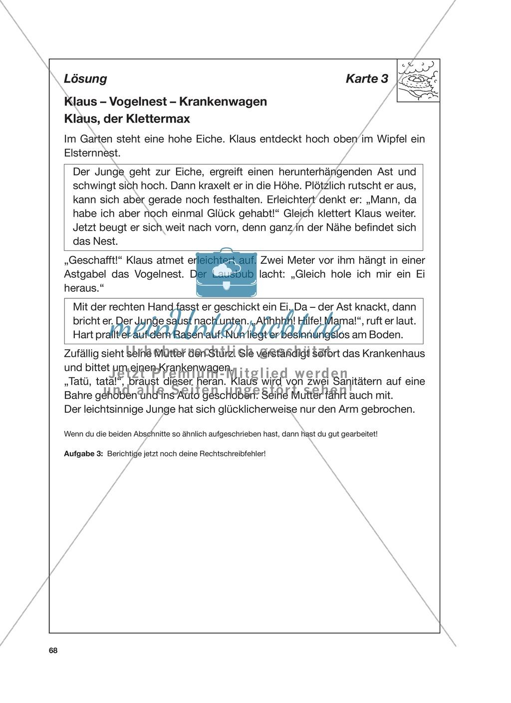 Reizwortgeschichte - Jutta, Vogelnest, ...: Unterrichtsgestaltung, Zuordnungsplan, Übungs- und Kontrollkarten Preview 11