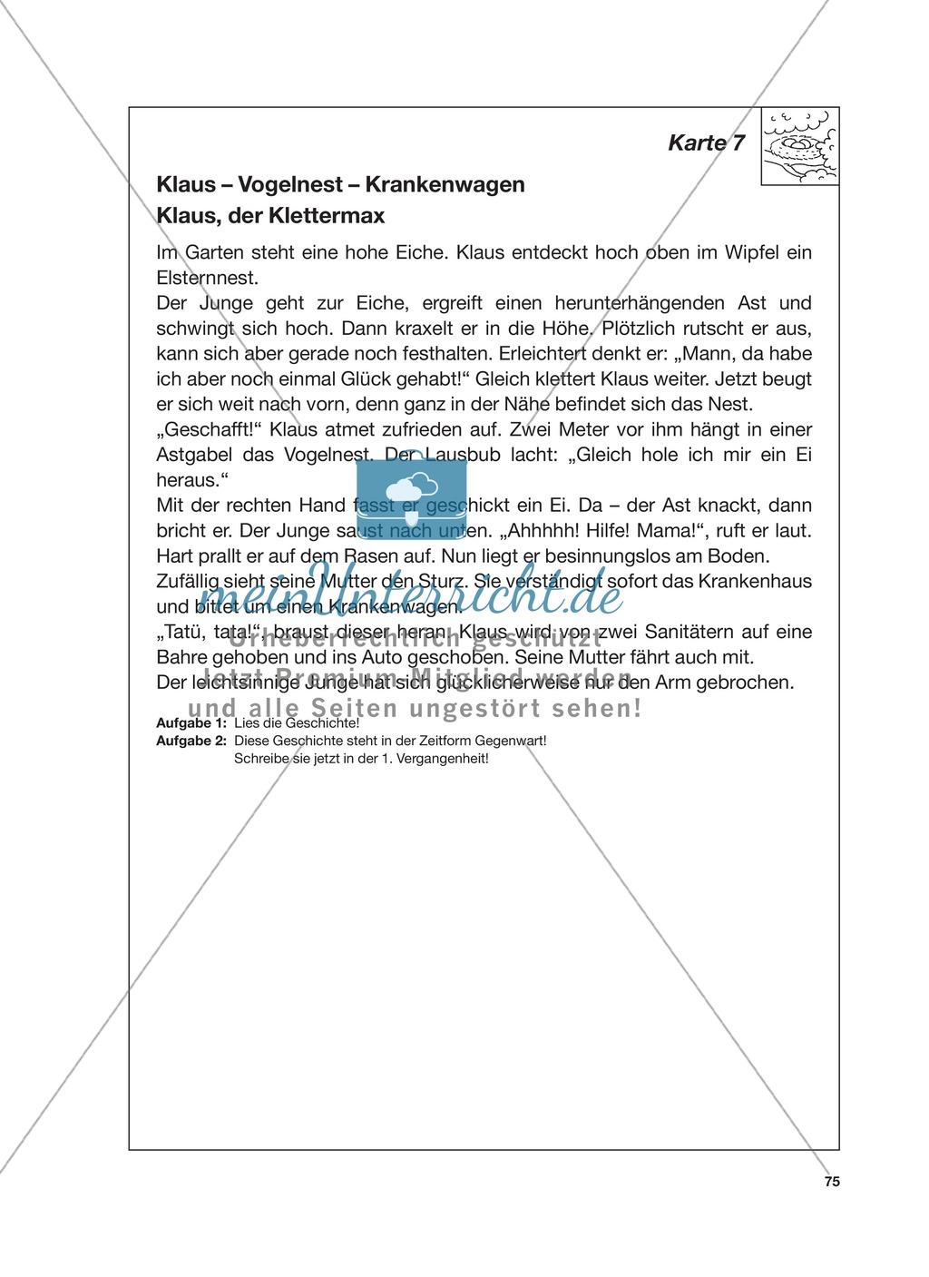 Reizwortgeschichte - Jutta, Vogelnest, ...: Unterrichtsgestaltung, Zuordnungsplan, Übungs- und Kontrollkarten Preview 18