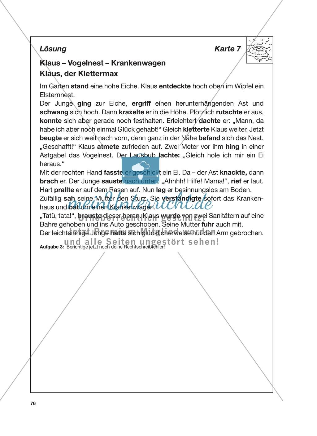 Reizwortgeschichte - Jutta, Vogelnest, ...: Unterrichtsgestaltung, Zuordnungsplan, Übungs- und Kontrollkarten Preview 19