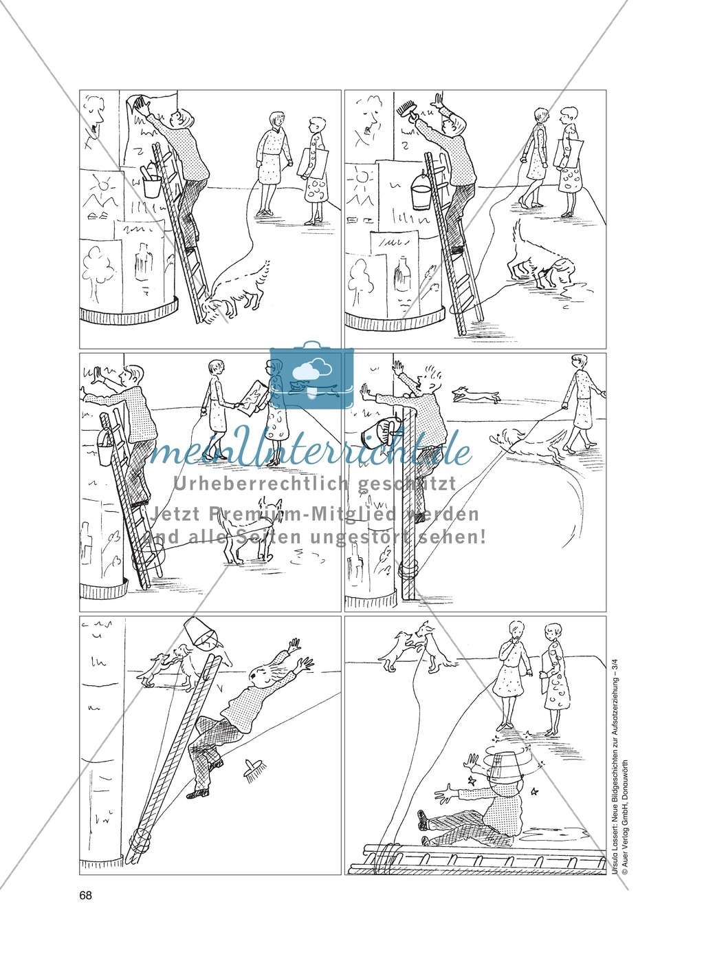 Bildergeschichten im DU - So ein Pech: Arbeitsblätter Preview 0