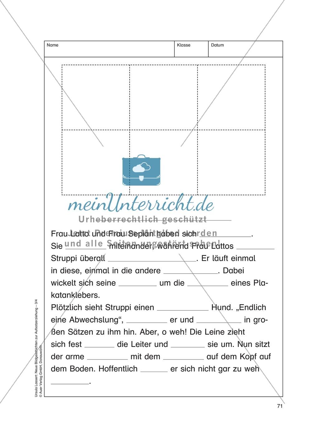 Bildergeschichten im DU - So ein Pech: Arbeitsblätter Preview 3