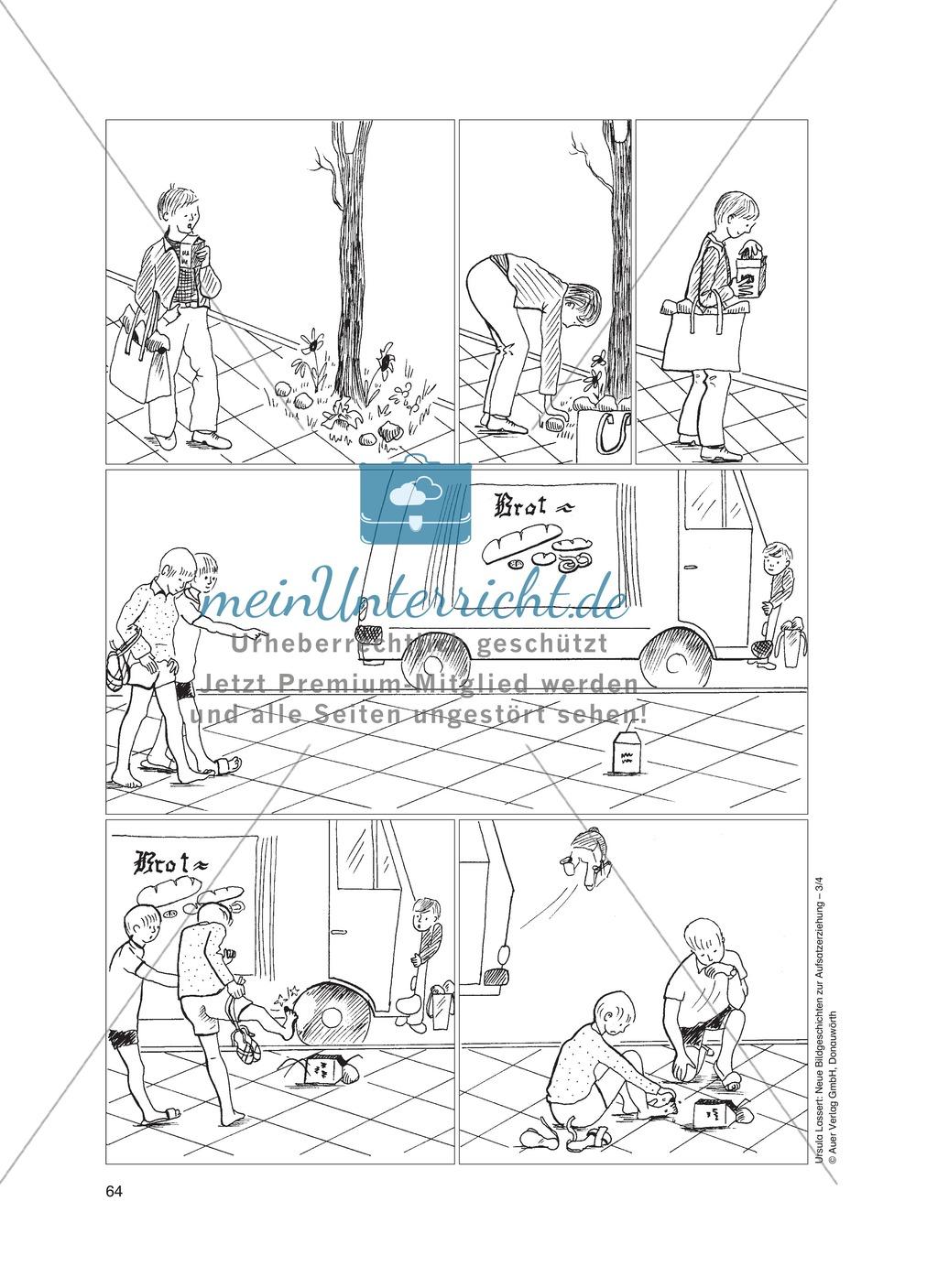Bildergeschichten im DU - Ein böser Streich: Arbeitsblätter Preview 0