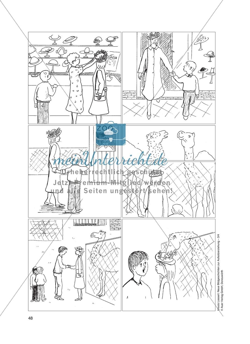 Bildergeschichten im DU - Der neue Hut: Arbeitsblätter - meinUnterricht