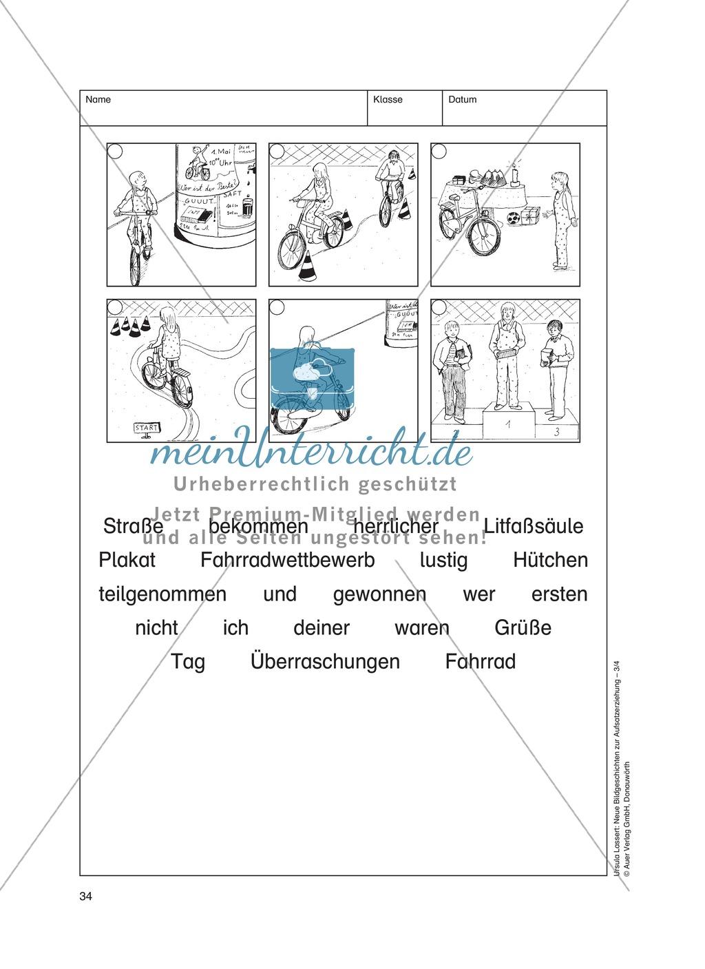 Bildergeschichten im DU - Doppelte Freude: Arbeitsblätter Preview 2