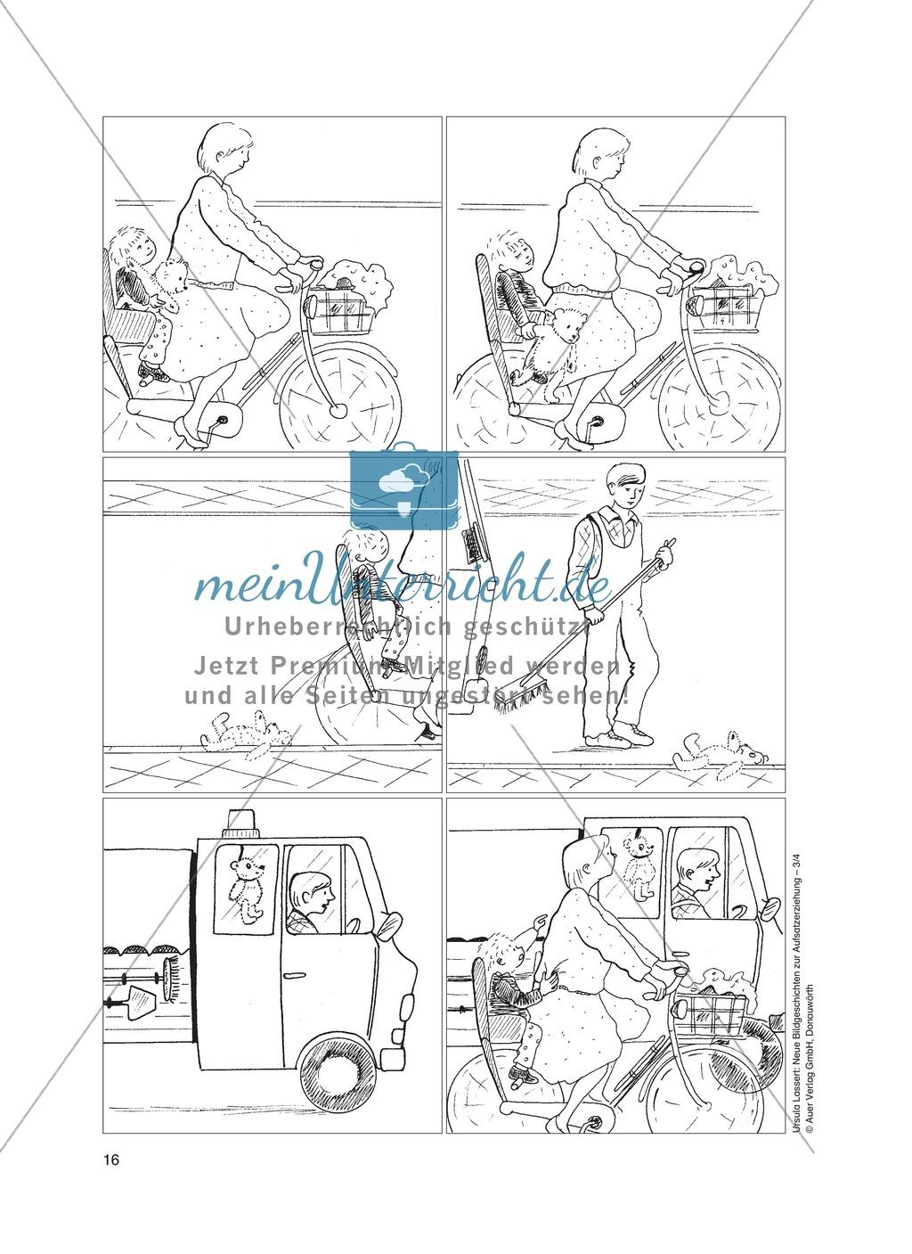Bildergeschichten im DU - Der verlorene Teddy: Arbeitsblätter Preview 0