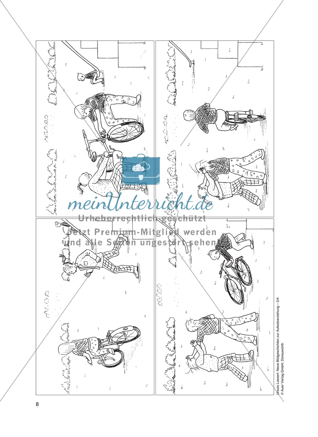 bildergeschichten im du - streit um ein fahrrad: arbeitsblätter