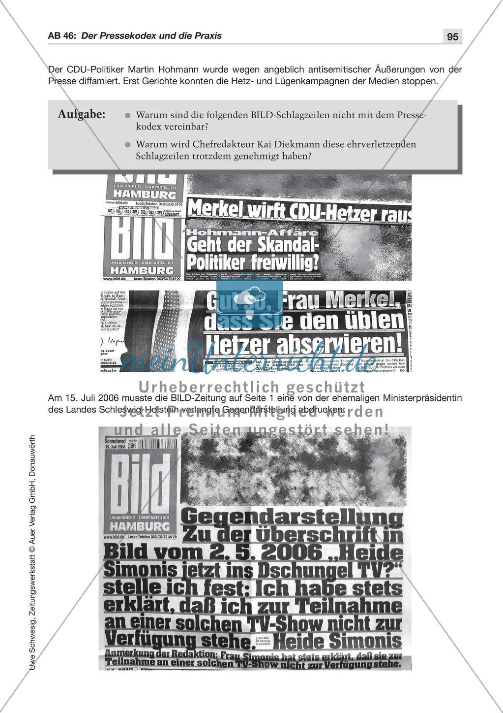 Der Pressekodex: Lesetexte mit Aufgaben Preview 1