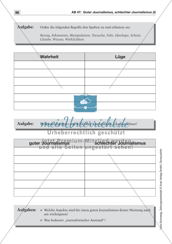 Der Pressekodex: Lesetexte mit Aufgaben Preview 2