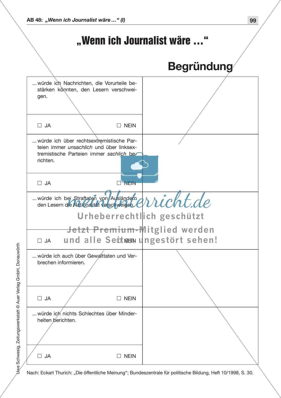 Der Pressekodex: Lesetexte mit Aufgaben Preview 5