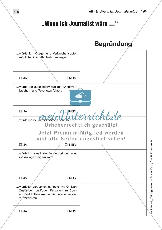 Der Pressekodex: Lesetexte mit Aufgaben Preview 6