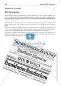 Textsorte 4: Der Kommentar: Lesetexte, Arbeitsblätter und Lösungen Preview 1