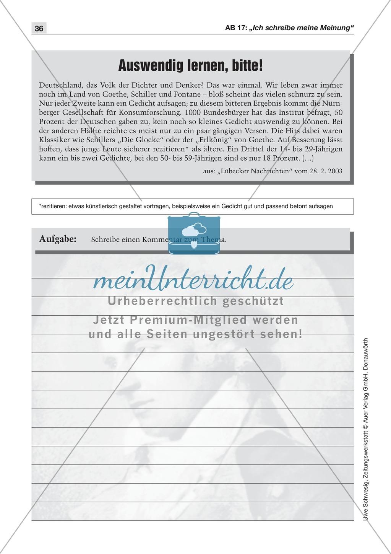 Textsorte 4: Der Kommentar: Lesetexte, Arbeitsblätter und Lösungen Preview 5