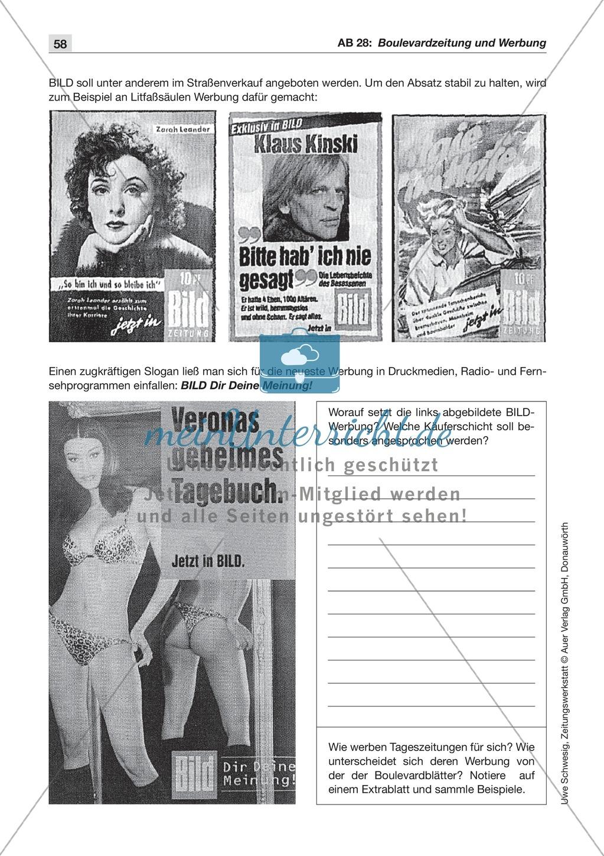 Zeitungsvergleich: Arbeitsblätter und Lösungen Preview 10
