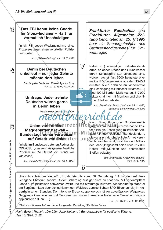 Zeitungsvergleich: Arbeitsblätter und Lösungen Preview 13