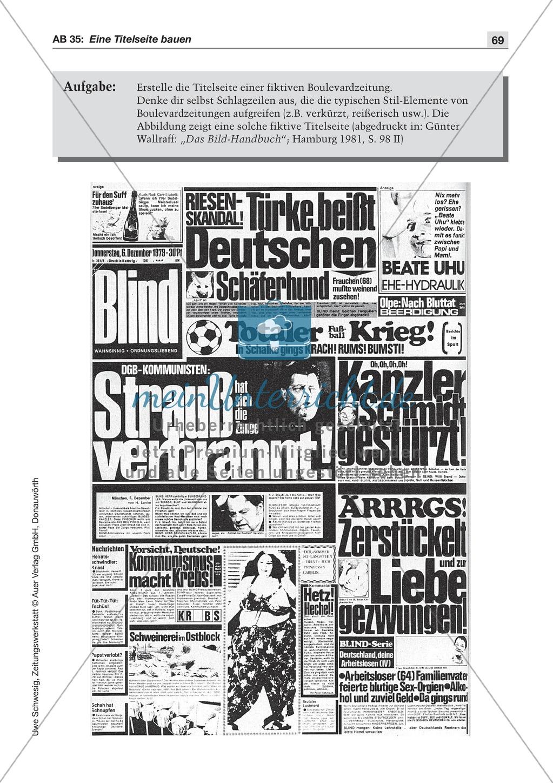 Zeitungsvergleich: Arbeitsblätter und Lösungen Preview 21
