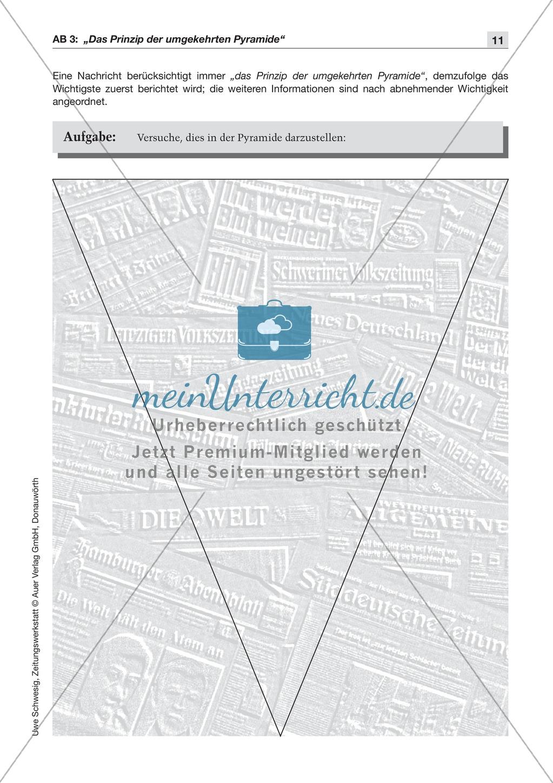 Textsorte 1: Die Nachricht: Texte, Arbeitsblätter und Lösungen Preview 1