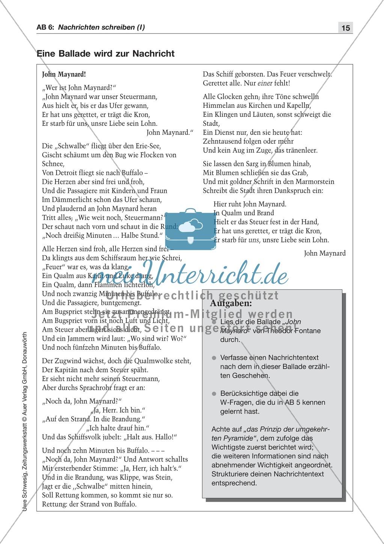 Textsorte 1: Die Nachricht: Texte, Arbeitsblätter und Lösungen Preview 5